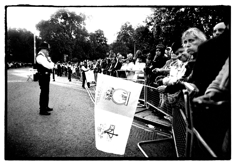 Celebrating the arrival of Pope Benedict XVI, Hyde Park, London, England by Toby Deveson. September 2010