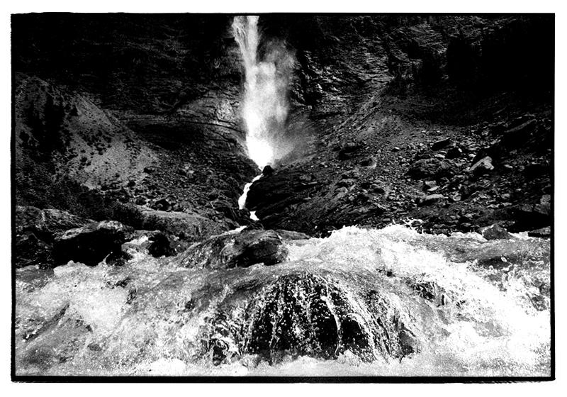 Takakkaw Falls, Yoho National Park. Canadian Rockies. July 1999.