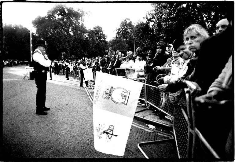 Waiting for Pope Benedict XVI, Hyde Park Corner, London, England by Toby Deveson. September 2010