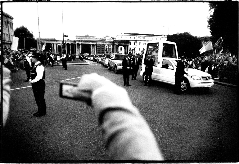 Pope Benedict XVI, Hyde Park Corner, London, England by Toby Deveson. September 2010