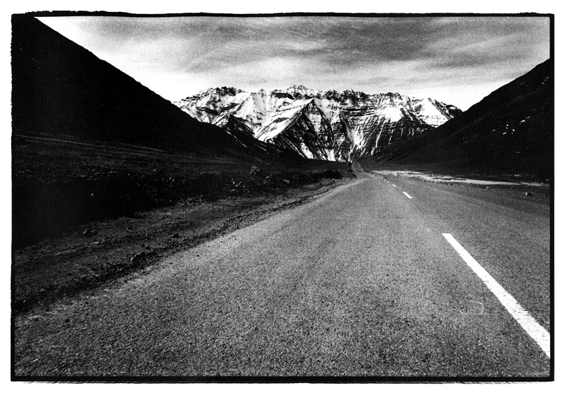 Ladakh in the Himalayas, part of the West of the Sun series of black & white analogue landscape photographs by Toby Deveson. March 2011