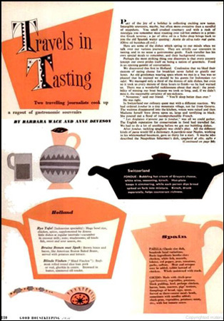 Inside page of Good Housekeeping 1956