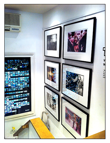 Holi - an exhibition by Jim Shannon and Toby Deveson at Howies on Carnaby Street in London, 2011
