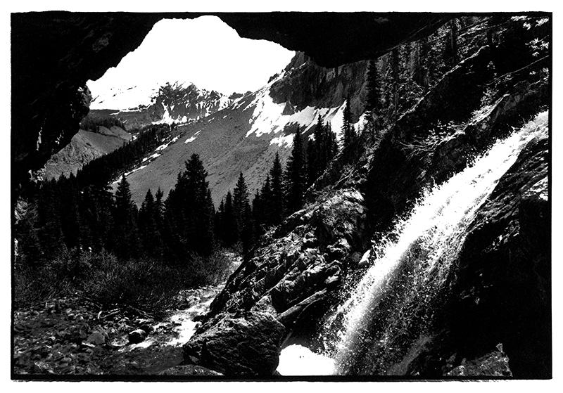 Burns Falls into Burns Creek, Misty Range, Kananaskis, Canadian Rockies July 1999