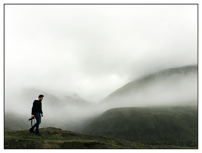 Personal I-Phone image of Rob White in Iceland by Toby Deveson. August 2015