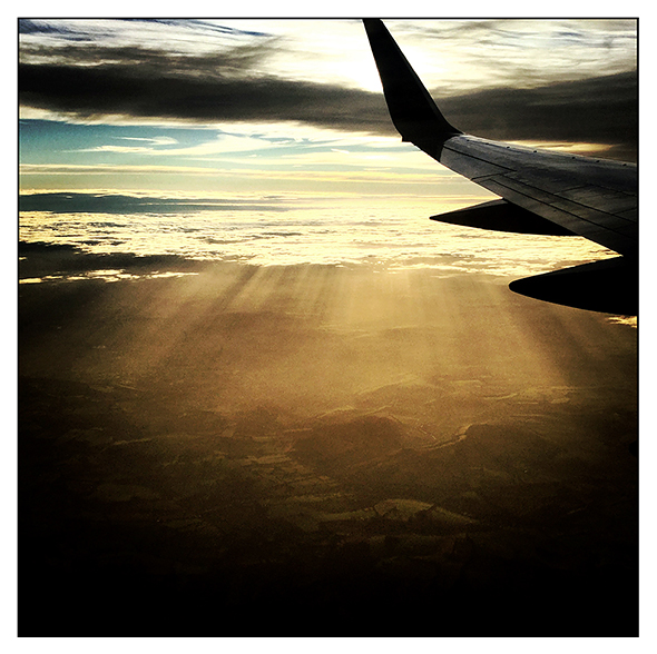 Personal I-Phone instagram image taken during a flight from London Heathrow to Panama City by Toby Deveson. January 2017