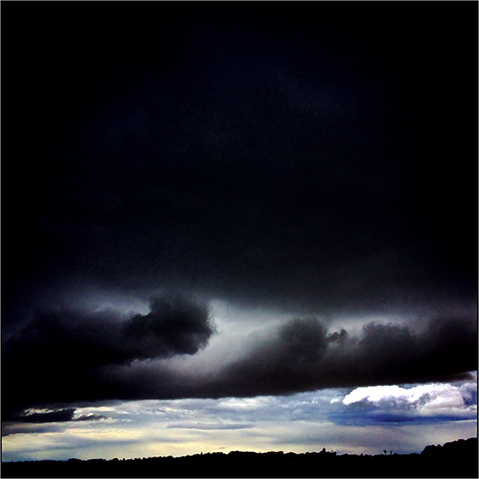 Weather at Kingsbarns, Scotland. Personal Instagram I-Phone image by Toby Deveson. August 2017